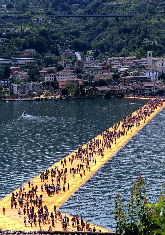 The Floating Piers, Christo, 18.06.2016, Lago d'Iseo, Foto Ursula Kaufmann J09A3461.jpg